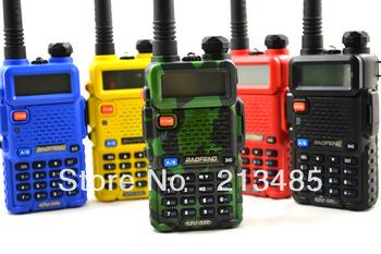 Baofeng UV-5R 136-174MHz & UHF400-520MHz Dual Band 5W/1W 128CH FM 65-108MHz with Free Earphone Portable Two-way Radio