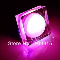 Pink  3W Acrylic square LED Ceiling Down Light  Fixure Lamp Bulb JS0054P