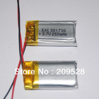 Wholesale 3.7V 250mah Small Rechargeable Polymer li ion Battery  PL501730,100pcs/lot