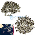 Cheap 100pcs 10mm Metal  DIY Studs Rivets Bump Spike Silver Bullet Spots Punk Leathercraft Clothing Accessories