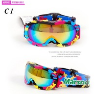 Free Shipping Double Polarized lens anti- mist anti- wind anti- sand riding goggles children ski glasses  M051