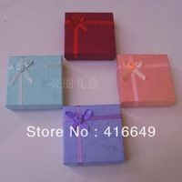 Wholesale 48pcs/lot 9x9x2.5cm Multi color Jewelry Sets Box Necklace Earrings Ring Box Packaging Box Free Shipping