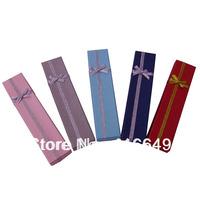 Wholesale 48pcs/Lot Multi color 20x4x2.5cm Jewelry Set Box Necklace/Bracelet Jewelry Packaging Box Free Shipping