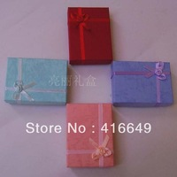 Wholesale 24pcs/lot Assorted Colors Jewelry Ring Box 8x11x3cm Jewelry Packaging Ring & Earring Gift Box Free Shipping
