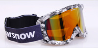 Free shipping 2014New arrival Dual layer face foams Dual PC lens outdoor glasses UV portecting ski goggles,riding goggles HB101
