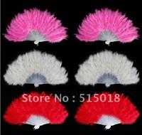 Dance feather fan, party dance props, fan for party performance whoelsale 3 colors