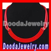 Red Leather Choker Collar Necklace For Women Wholesale JW0121-1 Free Shipping