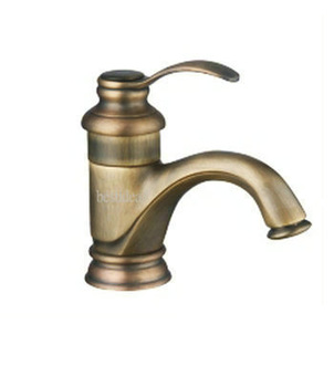 Delicate Hot sell Antique Brass Finish Single handle Bathroom Basin sink Mixer Tap Faucet AD-1227