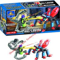 animal blocks/hero,Enlighten Child 87004/03/02/01 educational toys Spider KAZI DIY toys building block sets,children toys