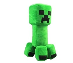 Retail 1PCS Minecraft Game Creeper Fans-Art Soft Plush Doll Toys Collection Gift 12&quot; 30cm Free Shipping(China (Mainland))
