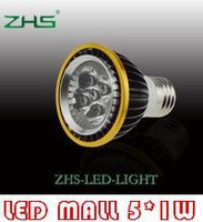 Free shipping Wholesale 5w 85V-265V INPUT  PAR 20 LED Light 5*1W  Spotlight E27   (100pcs/lot)
