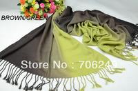 FREE SHIPPING,fashion acrylic scarf,ladies shawl,Imitation cashmere winter shawl,warm,size70*170cm,hand painted 2 color scarf