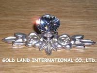 L140mm Free shipping K9 crystal glass furniture handle handle wardrobe handle cupboard handle