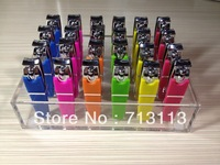 FREE DISPLAY BOX & SHIPPING NAIL CARE MANICURE NAIL CLIPPER  SILICONE COVER PACK IN 4 SIDE ACRYLIC DISPLAY BOX 24PCS PER DISPLAY