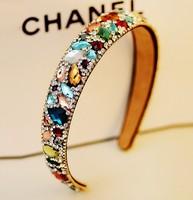 Fashion Multi Color Luxury Rhinestone Crystal Width Headband/Hairband/HeadWrap/Headwear Accessories for Women