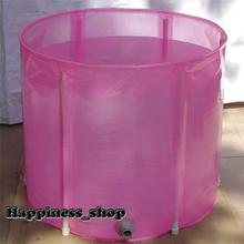 Wholesale&Retail Adult Folding Inflatable Bathtub Portable bath tub Spa Tub 65*58 + cushion keep Warm Gift for Family(China (Mainland))