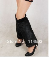 Coffee imitation mink fur shoes cover leg cover long design ankle sock short design fur boots set ankle sock fur booties
