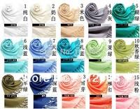 5pcs/lot Solid colors pashimina copy scarf shawl  40colors available/70*200cm/ WJ-125