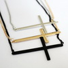 Punk Rock Trendy Mens Womens Fashion Cross Pendant Necklaces Jewelry Necklace  Free Shipping Wholesale JSQX002