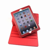 Good Quality Free Shipping Anti-drop Stand Rotating PU Case Cover Pouch Black/Purple/Brown/Red For 9.7 Inch Tablet PC MID Retail