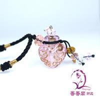 perfume bottle necklace Aroma necklace fragrance pendant vials Aroma pendant Perfume jewelry vial