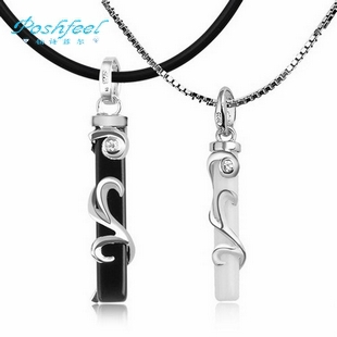 Free shipping MSF brand Honey letter 925 sterling silver 3 layers of platinum couples pendants necklaces