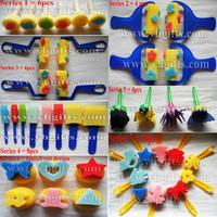 42PCS/LOT,Art sponge,Art stamp,Sponge brush,Kids toys,Paint tools,Kindergarten supplies.Craft material.Cartoon stamper,42 design