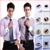 Men  brand  Business  dress  slim fit  shirt    cufflinks  long sleeve  TWill  polo shirts  FS01-10  XS S M L XL XXL XXXL