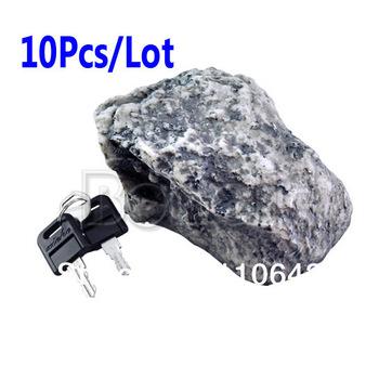 10Pcs/Lot Security Rock Hide A Key Holder Stone Safe Hidden Outdoor Look Garden Free Shipping 547