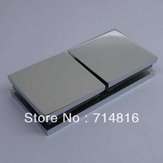 180 degree chrome brass shower glass clamp,shower hinge,glass clip(China (Mainland))