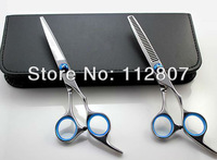 "high quality Japanese KASHO Professional Barber Hair Scissors ""Straight snips"" + ""Teeth shears"" set Promotion!"