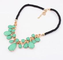 New 2014 Europe America Exaggerated Geometry jewelry Fashion Beads big rhinestone crystal bib necklace SPX1801