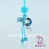 Murano Glass Perfume Cellphone Straps Aroma vial pendant perfume straps Murano Glass Essential Oil Bottle Pendant