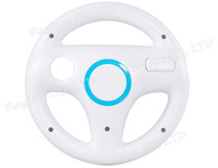 Wholesale Steering Wheel for Wii Kart Racing Game White (White)
