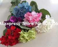 20pcs Silk Artificial Hydrangea Pincushion Laurustinus Flower Bush Wedding Bouquet Christmas