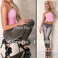 Free Shipping ML7546 New HOT Fashion Lady Cowboy Jeggings Stretch Sexy Skinny Leggings