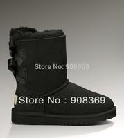 int'l brand Real Fur sheepskin 100% Wool inside 3280 BLack etc colors women winter warm mid-calf  snow boot,new security label