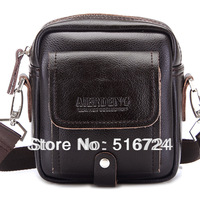 Elringklinger genuine leather male waist pack genuine leather small messenger bag dual vintage man bag casual shoulder bag coin