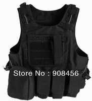 Free Shipping Black Color PRO Tactical MOLLE VEST