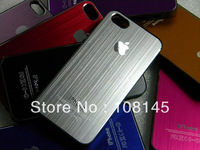 case for iphone 5 5S metal aluminum sticker many colors 10pcs free shipping