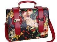 Heiress handbag, noble luxury bags, printed handbags, oil painting flower handbag, complex ancient shoulder bag