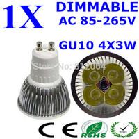 High power CREE GU10 4x3W 12W 85-265V Dimmable Light lamp Bulb LED Downlight Led Bulb Warm/Pure/Cool White