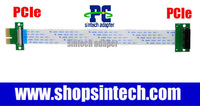 high speed PCI-e express 1X 4x 8x 16x Riser Extender adapter Card +10cm Flexible FFC Cable