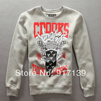 crooks and castles men's christmas sweaters hiphop clothes korean sweater men fashion clothing fleece hoodies sweatshirt robe