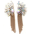 Free Shipping Wholesale Antique Color Rhinestone Bronze Chain Tassel Earrings Womens Fashion Earring NWT  99E285