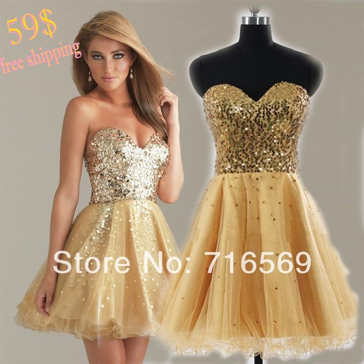 Cheap Gold Cocktail Dresses - Long Dresses Online