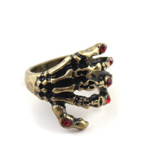 Punk Antique Claw Fashion Rings Unique Cool Mens Rhinestone Ring Size 5 Wholesale Free Shipping 99J216