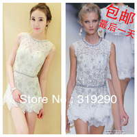 2012 Fashion Women Designer Rhinestone Tube Tops Evening Dress Sexy Formal Dress D-16