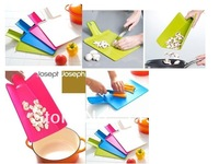 free shipping Folding Kitchen PVC Cutting Board Random Color