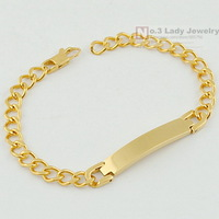 Stainless Steel Gold Plated Bracelets For Women ID Hand Chain Womens Mens Fashion Jewelry 2014,Wholesale Free shipping,WB005